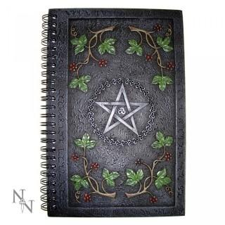 "Journal intime couverture résine ""Wiccan Book of Shadows"" (21,5cm x 14 cm)"