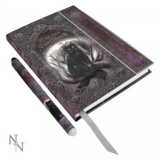 """Journal /carnet intime à pentacle """"Livre de sorcière"""" (+ stylo) - Luna Lakota"""