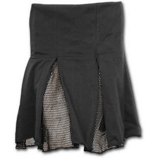 Jupe courte gothique noire à maille filet