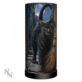"Lampe de chevet Chat ""A Brush With Magick"" (27.5cm)"