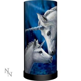 """Lampe de chevet à couple de licornes """"Sacred Love"""" - Lisa Parker (27.5cm)"""