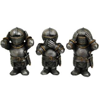 Lot de 3 figurines Chevaliers de la sagesse (8,8cm)