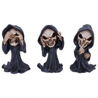"""Lot de 3 Figurines """" Les sages de la mort """" - 11cm"""