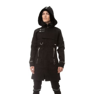 Manteau capuche gothique homme noir EXCLUSION - Vixxin