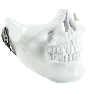 Masque de squelette blanc