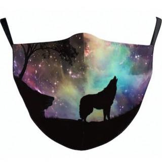 Masque lavable noir à loup et ciel étoilé (Import UK - Non normé AFNOR)