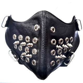 Masque Poizen Industries Spike Mask Full Black