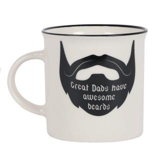 Mug Barbe noir (Les papas géniaux ont des barbes impressionnantes)
