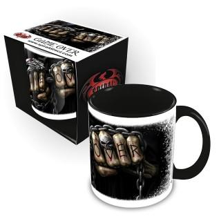"""Mug gothique """"GAME OVER"""" avec La Mort à chaines de combat"""