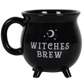 """Mug noir en forme de chaudron """"Witches Brew"""" (Potion des sorcières)"""