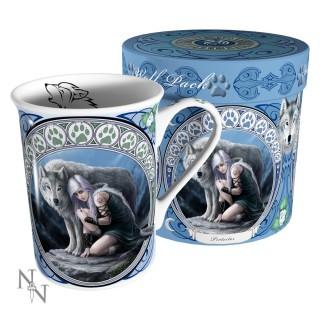"Tasse Fantaisie achat mug tasse fantaisie anne stokes avec femme et loup "" protector"
