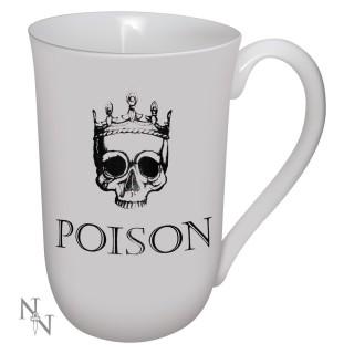 """Mug Tasse gothique """"Poison"""" avec tête de mort couronnée"""