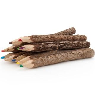 Pack de 10 crayons de couleur bois