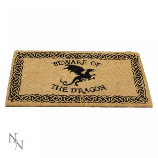 "Paillasson d'Extérieur / Tapis ""Attention au dragon"" (45x75cm)"