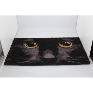 Paillasson d'Extérieur / Tapis noir Chat (45x75cm)