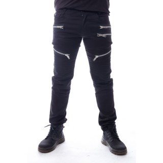 Pantalon homme goth-rock à multiples zip ALIHAN - Heartless