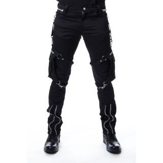 Pantalon homme goth-rock à poches sanglées MERCER - Heartless