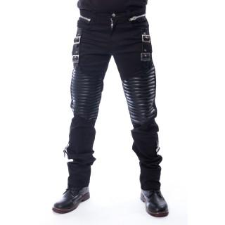 Pantalon homme noir à renforts et sangles  KORE - Vixxsin