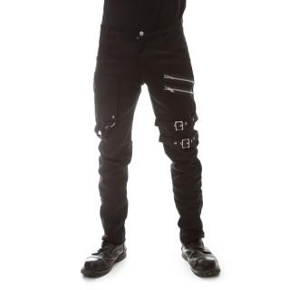 Pantalon homme noir à sangles et zips ICEBREAKER - coupe Slim - Vixxsin