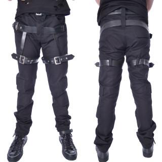 Pantalon homme noir à sangles NEO - Coupe droite - Chemical Black