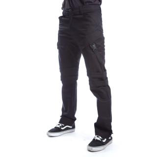 Pantalon homme noir à sangles WIN - coupe droite - Chemical Black