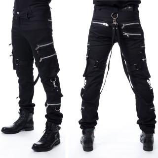 Pantalon homme noir à zips et mousquetons LOGAN - Vixxsin