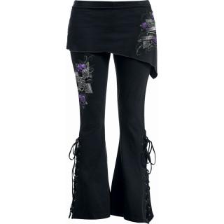 """Pantalon Legging pattes d'eph / jupe """"Toutes les roses ont des épines"""""""