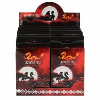 Paquet de 15 cônes d'encens senteur Dragon Fire (sang de dragon)