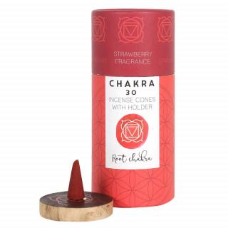 Paquet de 30 cônes d'encens senteur Fraise (Root Chakra)