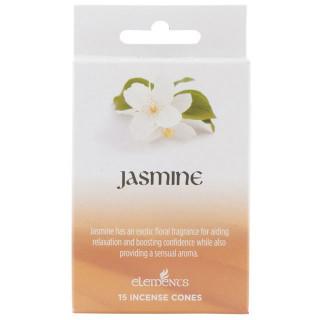 Paquet de 15 cônes d'encens senteur Jasmin - Elements