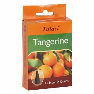 Paquet de 15 cônes d'encens senteur Mandarine - Tulasi