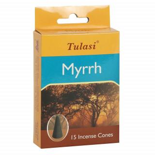 Paquet de 15 cônes d'encens senteur Myrrhe - Tulasi
