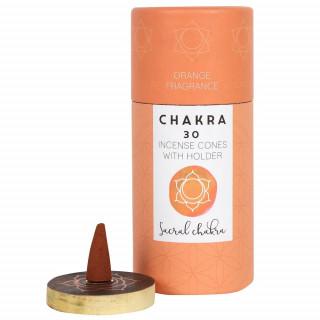 Paquet de 30 cônes d'encens senteur Orange (Sacral Chakra)