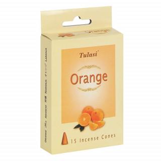 Paquet de 15 cônes d'encens senteur Orange - Tulasi