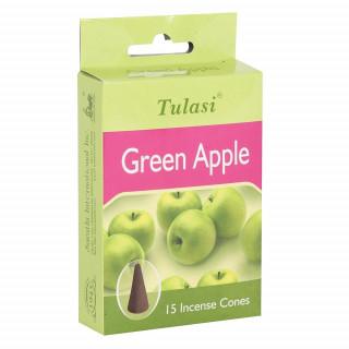 Paquet de 15 cônes d'encens senteur Pomme verte - Tulasi