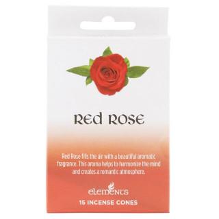 Paquet de 15 cônes d'encens senteur Rose rouge - Elements