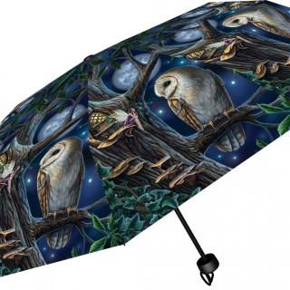 Parapluie gothique à Chouette et fée des bois - Lisa Parker