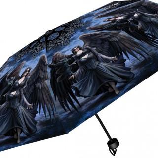 Parapluie gothique à femme aux corbeaux - Anne Stokes