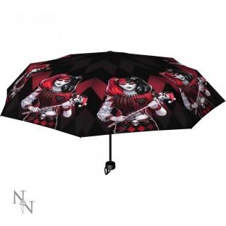 Parapluie gothique à femme bouffon style arlequin - James Ryman