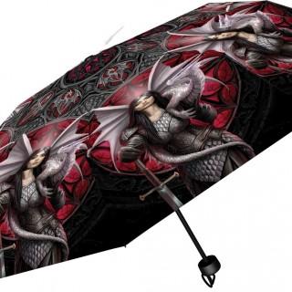 Parapluie gothique à guerrière aux dragons - Anne Stokes