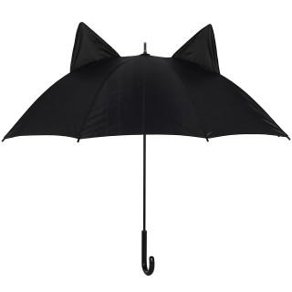 Parapluie noir à oreilles de chat