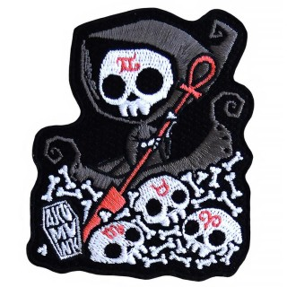 "Patch tissu Faucheuse sur le Styx ""Infernal River"" - Akumu Ink"