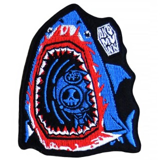 "Patch tissu Requin et scaphandrier ""Forgotten Soul"" - Akumu Ink"