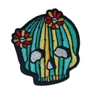 Patch tissu sugar skull à fleurs poison - Banned