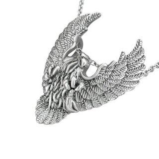 Pendentif acier aigle en vol