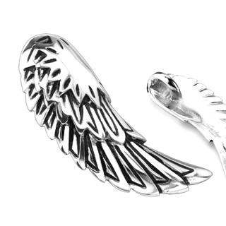 Pendentif acier aile d'ange déchu