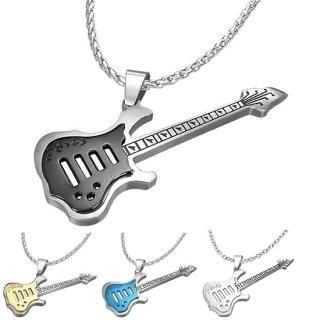 Pendentif acier guitare électrique