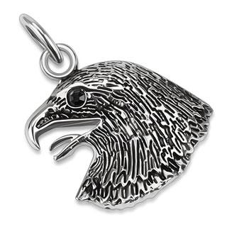 Pendentif acier tête d'aigle impérial