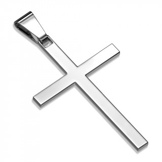 Pendentif croix latine en acier