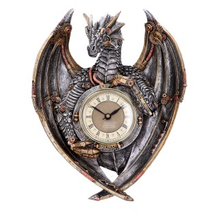Pendule dragon steampunk